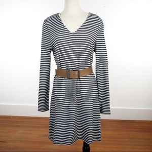 Seed Heritage Jacquard Striped Shift Dress Large